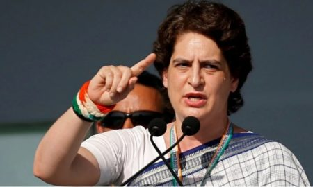 """Congress general secretary Priyanka Gandhi Vadra on Tuesday alleged that 100 people have been killed in Uttar Pradesh in the first 15 days of April and demanded a thorough probe in the cases as well as into the """"merciless"""" killing of two priests in Bulandshahr."""